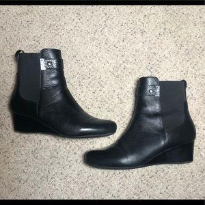 Rockport black wedge Macklemore boots size 11